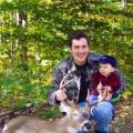 My Son Joseph and I with six point bow kill