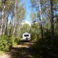 Long narrow campsites
